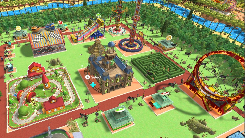 RollerCoaster Tycoon Adventures arrive sur Nintendo Switch