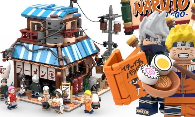 Le restaurant de Ramen Ichiraku de Naruto en Lego