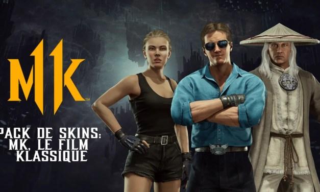 Mortal Kombat 11: Le Pack de Skins MK, Le Film Klassique est disponible