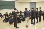 模擬授業(体育 岡准教授によるコミュニケーションゲーム)