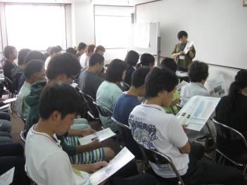 【画像】札幌花き市場について北嶋課長補佐様から講義を受けました