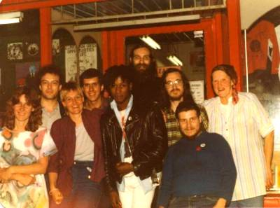 Black Rose collective with Darren and Jello from Dead Kennedys