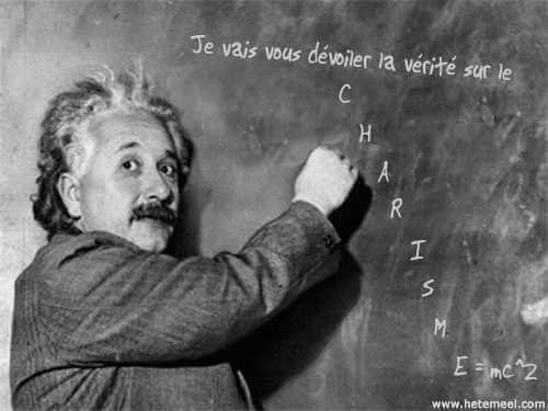 Charisme définition Einstein