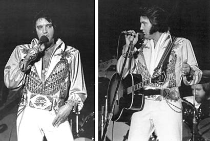 Elvis on stage - pic