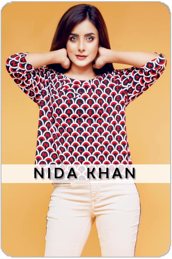 Pakistan Female Model Nida khan