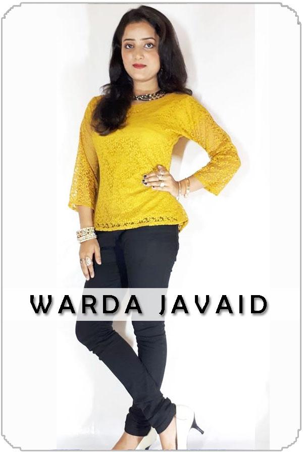 Pakistan Female Model Warda Javaid