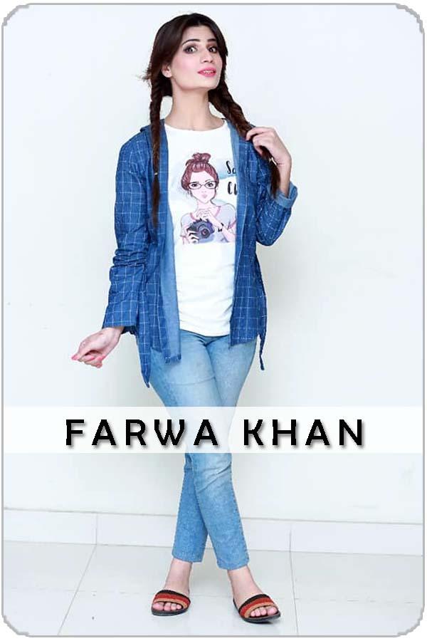 Pakistani Female Model Farwa Khan