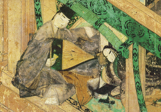 Scene from the Tale of Genji picture scroll