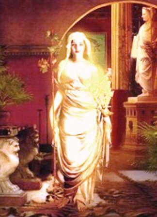 Picture of the goddess Vesta / Hestia