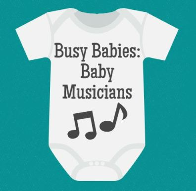 Busy Babies at the Library - Baby Musicians - talesforthetiny.com