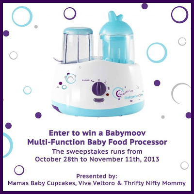 Babymoov Multi-Function Baby Food Processor Giveaway! Ends 11/11