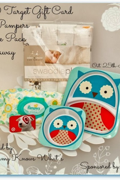 $50 Target Gift Card & Pampers Prize Pack Giveaway! Ends 11/15