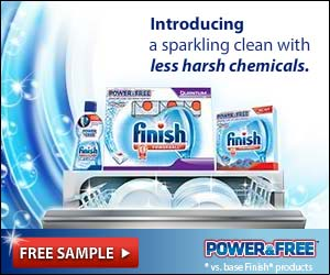 *Free* Sample of FINISH Power & Free Dish Detergent!
