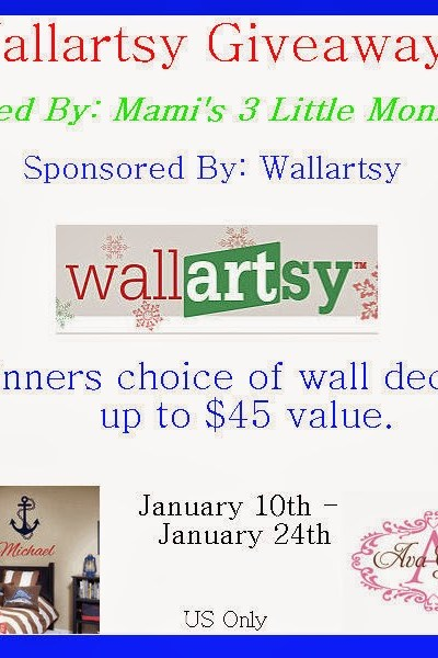 WallArtsy Vinyl Wall Decal Giveaway!! Ends 1/24