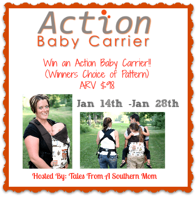 Enter to win an Action Baby Carrier of your choice! Ends 2/28