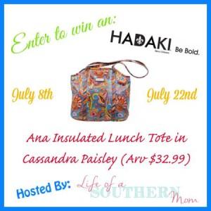 Hadaki Insulated Lunch Tote Giveaway! 07/22