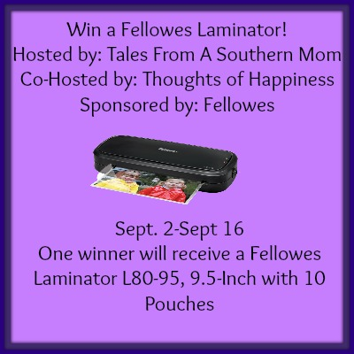 Fellowes Laminator Giveaway 09/16