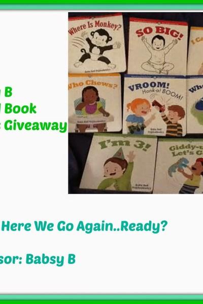 Babsy B Board Book Series Giveaway US 11/14