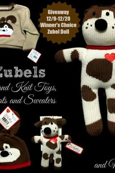 Zubels Hand Knit  Toys Giveaway! 12/20