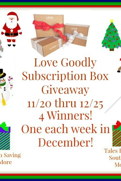 Love Goodly Subscription Box Giveaway 12/25
