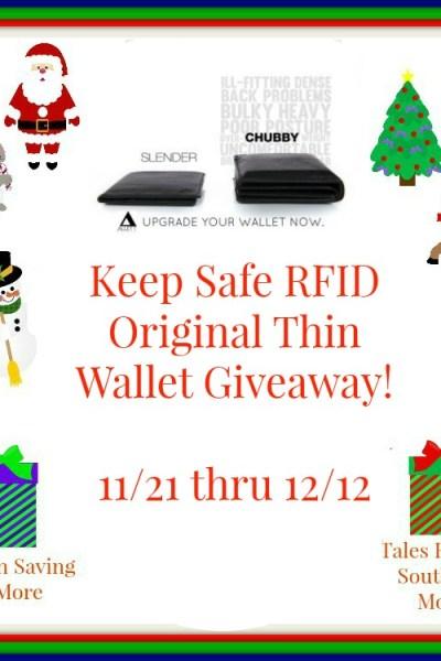 Allet Keep Safe RFID Original Thin Wallet Giveaway 12/12