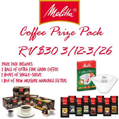 Melitta Coffee Giveaway 03/26