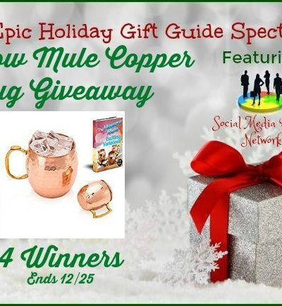 Moscow Mule Copper Mug Giveaway Ends 12/25 – 4 Winners