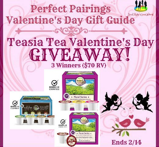 Teasia Tea Valentine's Day Giveaway (3 Winners!) Ends 2/14