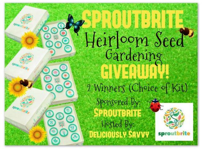 Sproutbrite Heirloom Seed Gardening Giveaway! 2 Winners ~ Choice Of Kits (Herb, Veggie Or Wildflower) ~ Ends 3/09