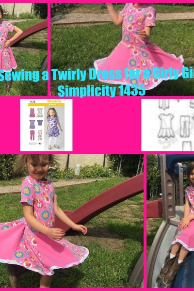 Sewing a Twirly Dress for a Girly Girl! Simplicity 1435