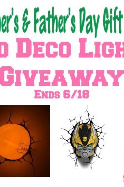 3D Deco Light Giveaway!