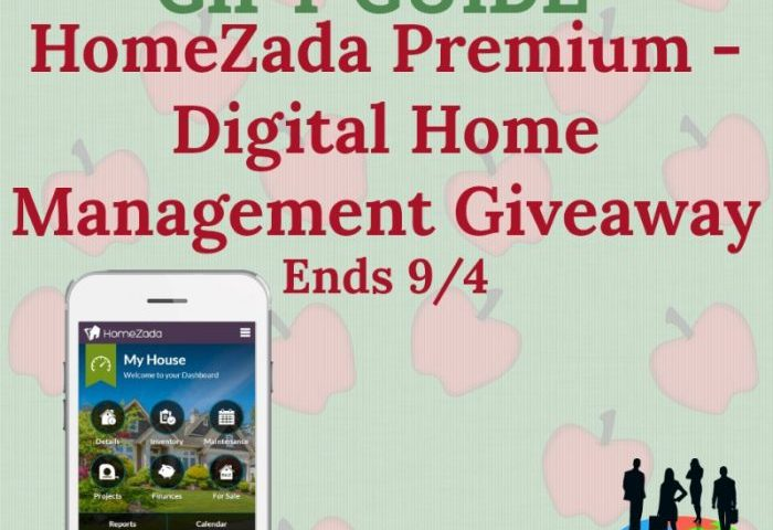 HomeZada Premium – Digital Home Management Giveaway Ends 9/4