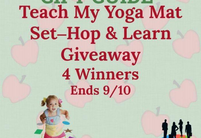 Teach My Yoga Mat Set – Hop & Learn Giveaway 4 Winners Ends 9/10