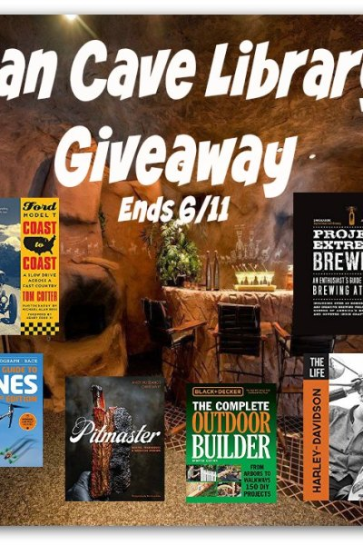Man Cave Library Giveaway Ends 6/11