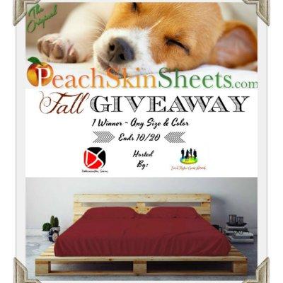 PeachSkinSheets Fall Giveaway ~ 1 Winner