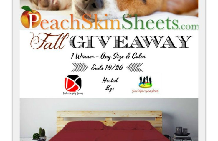 PeachSkinSheets Fall Giveaway ~ 1 Winner