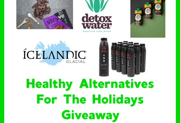 Healthy Alternatives For The Holidays Giveaway Ends 12/24