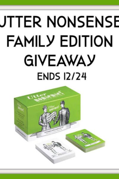 Utter Nonsense Family Edition Giveaway Ends 12/24