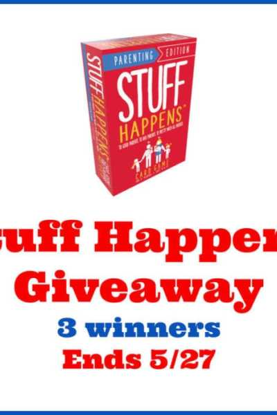Stuff Happens Giveaway 3 winners Ends 5/27