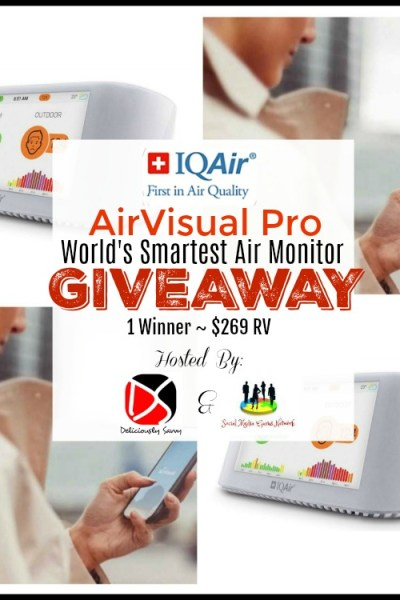 IQAir AirVisual Pro ~ World's Smartest Air Monitor Giveaway (1 Winner ~ $269 RV)