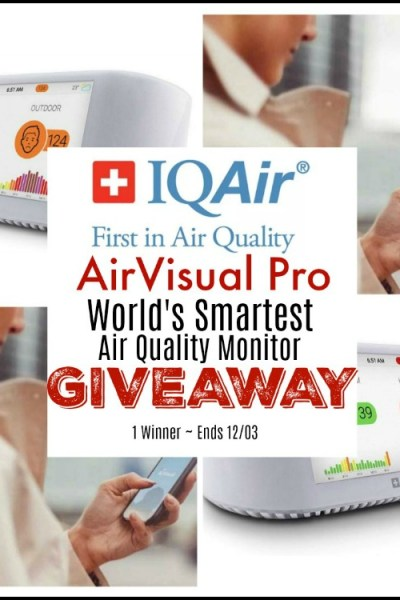IQAir AirVisual Pro World's Smartest Air Quality Monitor Giveaway