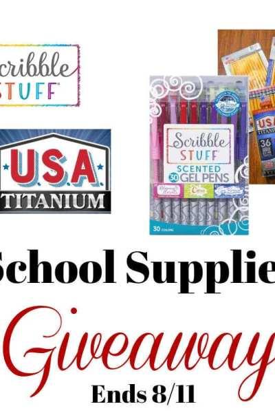 School Supplies Giveaway Ends 8/11