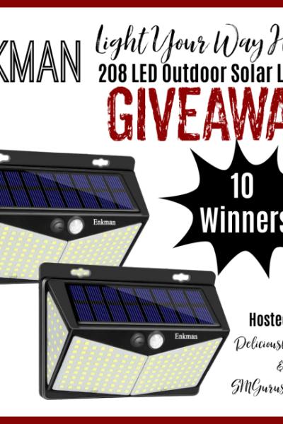Enkman Light Your Way Home Outdoor Solar Lights Giveaway