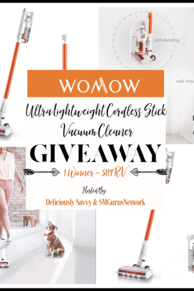 Womow Ultra Lightweight Cordless Stick Vacuum Cleaner Giveaway