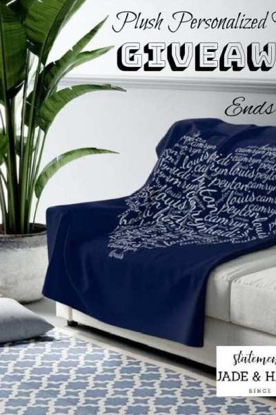 Plush Personalized Blanket Giveaway