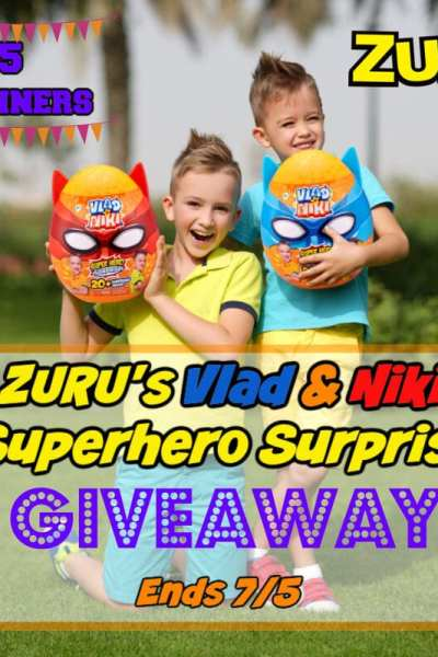 ZURUs Vlad & Niki Superhero Surprise Giveaway 5 Winners