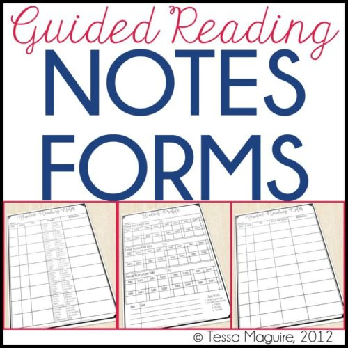 Guided Reading Notes forms