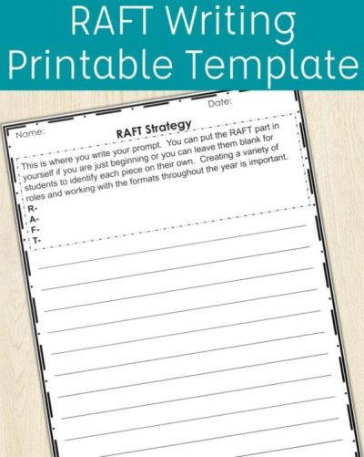 RAFT Writing Strategy Printable Template