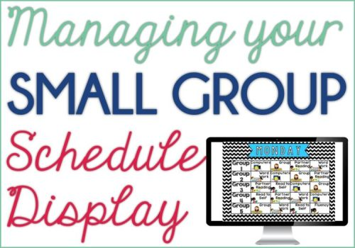 Small Group Schedule Display