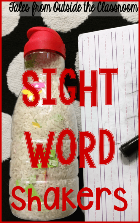 Sight word shakers are an easy center.